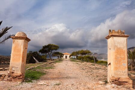 Abandoned ruin of Finca farm house in rural Region of Murcia, Spain Stock Photo