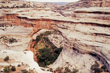 geologic: Sipapu Bridge naturally formed geologic formation in Natural Bridges National Monument, Utah, USA