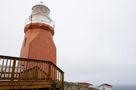 Long Point Lighthouse near Crow Head on North Twillingate Island, northeast atlantic coast of Newfoundland, NL, Canada