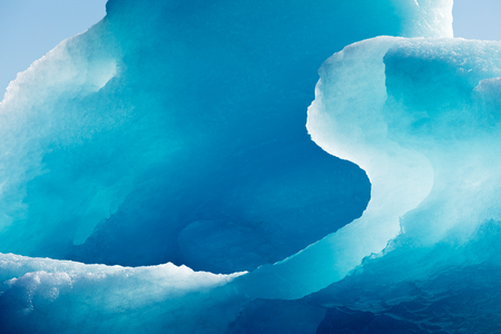 Blue iceberg frozen ice detail abstract texture patter background 写真素材
