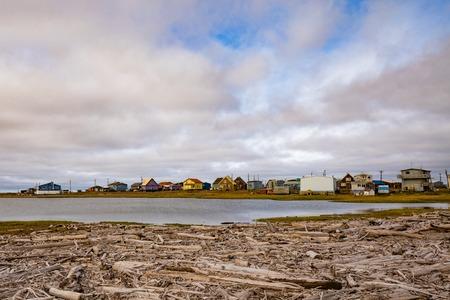 Arctic Ocean Inuvialuit town Tuktoyaktuk NWT CA 写真素材 - 118487607
