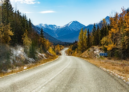 Stewart Cassiar Highway 37 in fall BC Canada