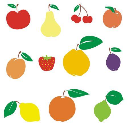 vector illustration of different fruits Illustration
