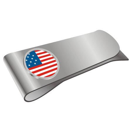 시뮬레이션: money clipper with USA flag