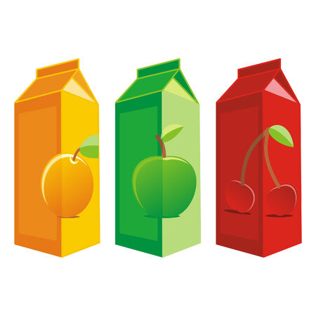 carton box: Vector illustration of isolated juice carton box Illustration