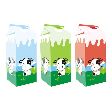 carton de leche: cajas de cartón de leche