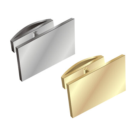 cuff links: Vector illustration of isolated gold and silver cuff links
