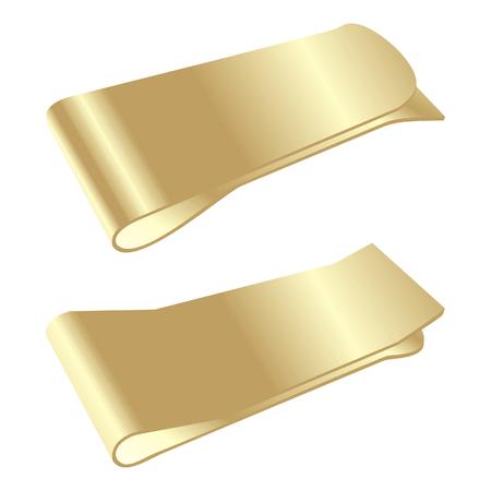 시뮬레이션: isolated golden money clip 일러스트