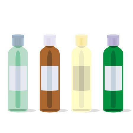 painkillers: isolated painkillers bottles set Illustration