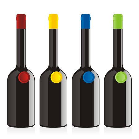 balsamic: isolated balsamic vinegar bottles set
