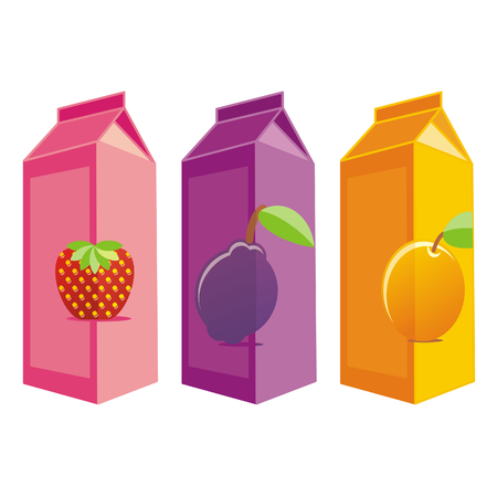 fresh juice: juice carton boxes