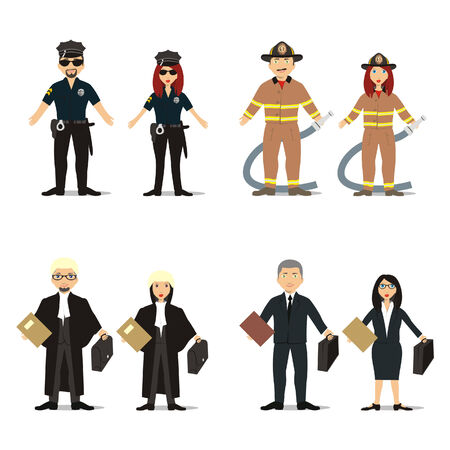 isolated people with different occupations Vector