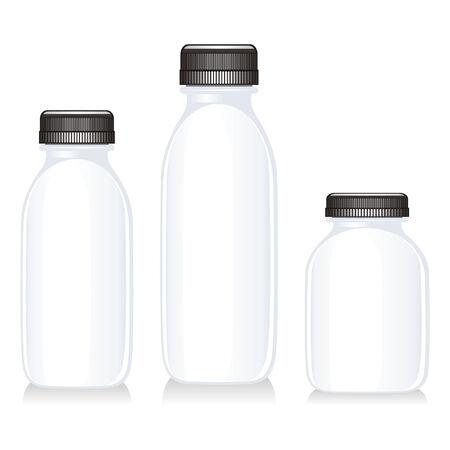 isolated milk bottles