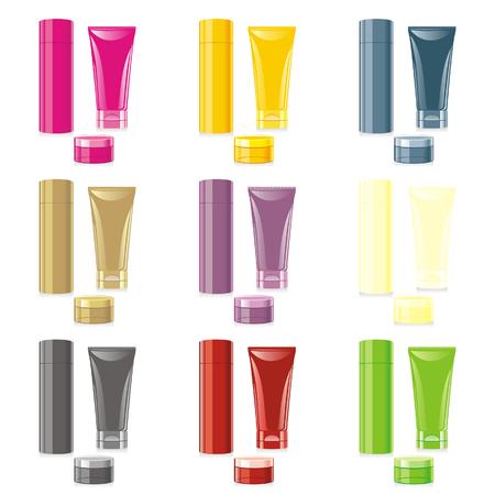 isolated cosmetics set