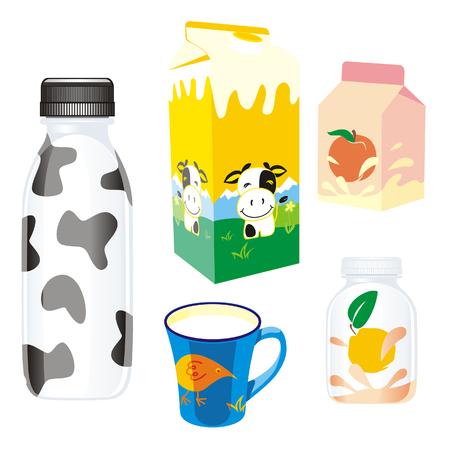 carton de leche: aisladas de productos lácteos