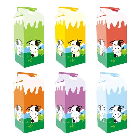carton de leche: aislados cajas de cartón de leche