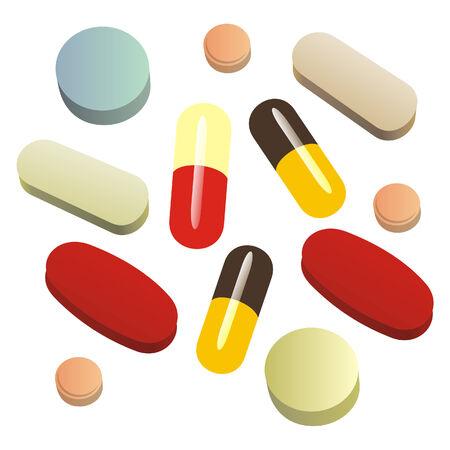 isolated painkiller pills