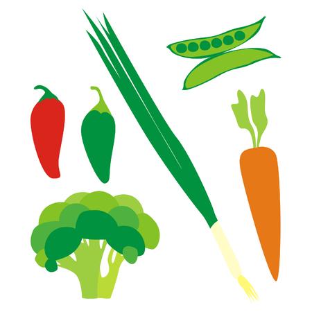 isolated vegetables Illustration