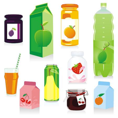 pellucid: frutas contenedores aislados
