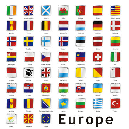 international flags: isolated international flags