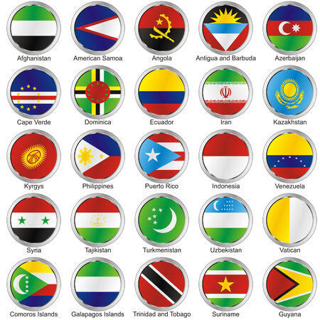isolated international flags