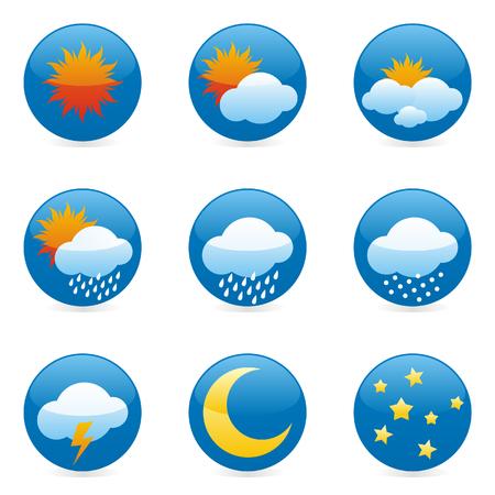 partial: iconos del tiempo aislados