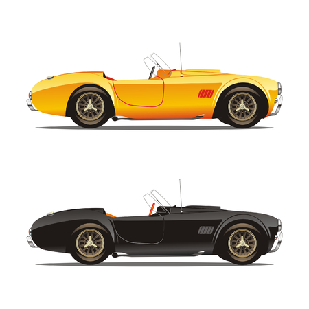 vector isolated convertible cars