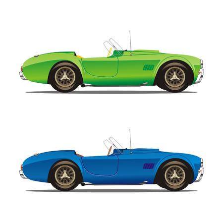 car showroom: Vector Isolado autom�viles convertibles Vectores