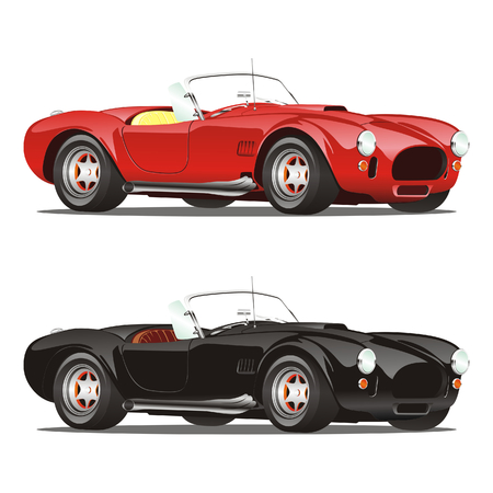 retro model: vector isolated convertible cars