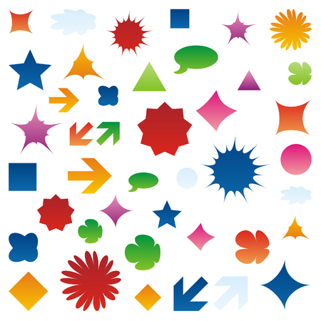 vector isolated web icons Vector
