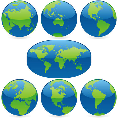 vector world globes and maps Vector