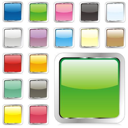 shinning: botones cuadrados de vectores