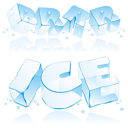 icicle: vector editable ice letters