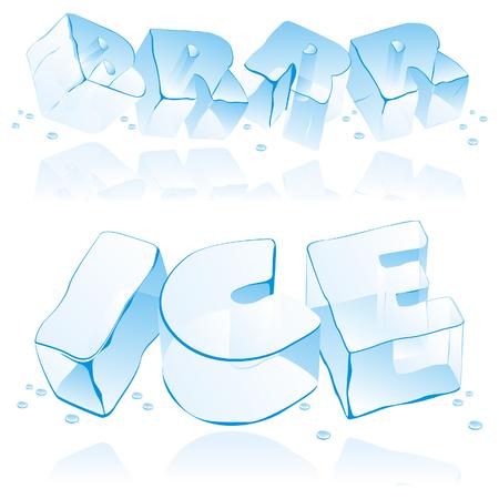 vector editable ice letters Vector Illustration