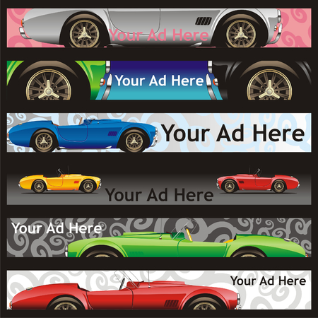 fully editable vector web banners with different layouts ready to use