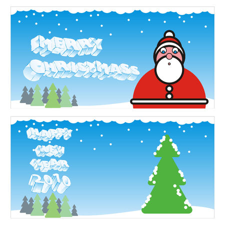 fully editable vector winter holidays cards with details ready to use  Stock Vector - 5697517