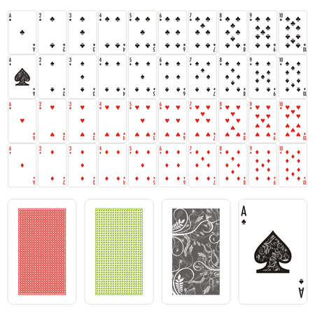 fully editable: fully editable vector playing cards