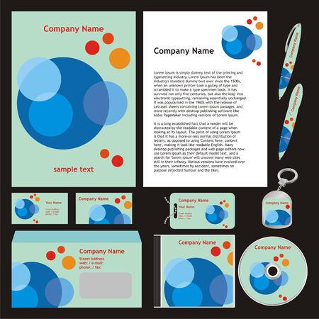 cd case: plantillas de negocio configuran listas para usar  Vectores
