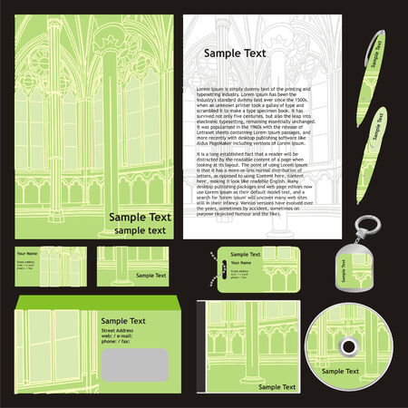 fully editable: fully editable vector business templates set ready to use  Illustration