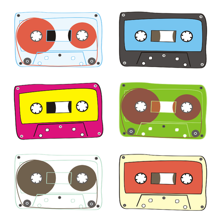 fully editable audio cassette Stock Vector - 6486673