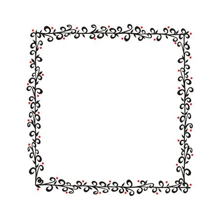 Vollständig editierbare Rahmen Illustration Vektorgrafik