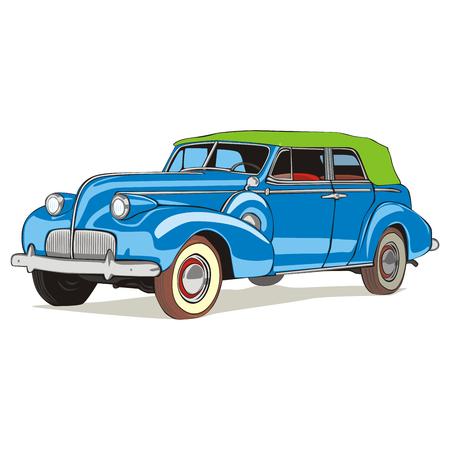 car showroom: coche color antiguo aislados de vector completamente editable con detalles  Vectores