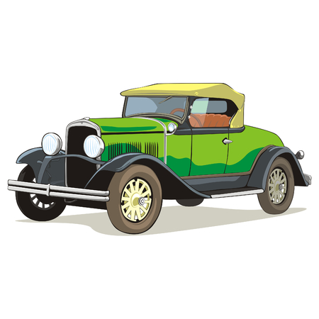 old colored car with details  Stock Vector - 6911044