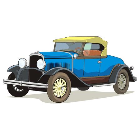 car showroom: viejo coche color con detalles