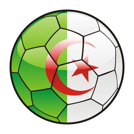 footie: fully editable illustration flag of Algeria on soccer ball Illustration