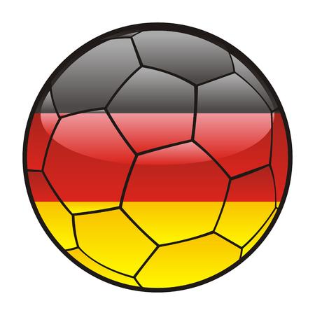 bandera alemania: Bandera de la ilustraci�n totalmente editables de Alemania sobre el bal�n de f�tbol
