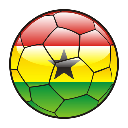 footie: fully editable illustration flag of Ghana on soccer ball Illustration