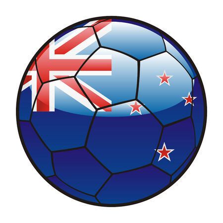footie: fully editable illustration flag of New Zealand on soccer ball