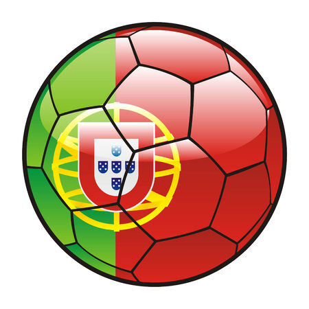 footie: fully editable illustration flag of Portugal on soccer ball Illustration