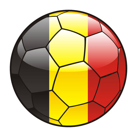 belgium flag: vector illustration of Belgium flag on soccer ball